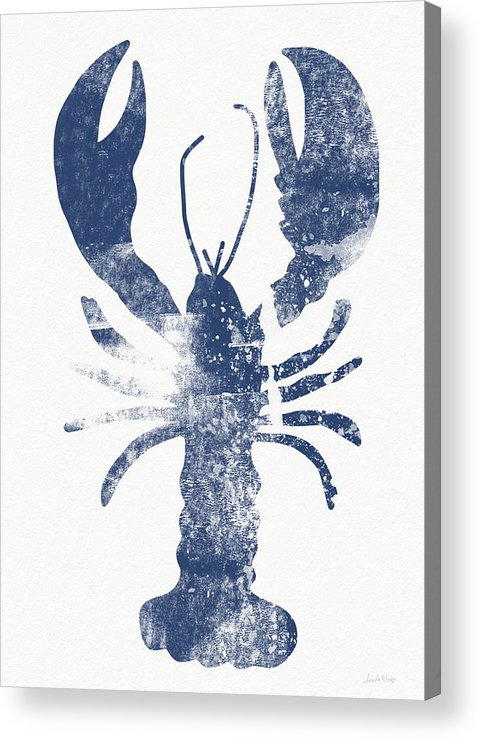 Cape Cod Acrylic Print featuring the painting Blue Lobster- Art By Linda Woods by Linda Woods