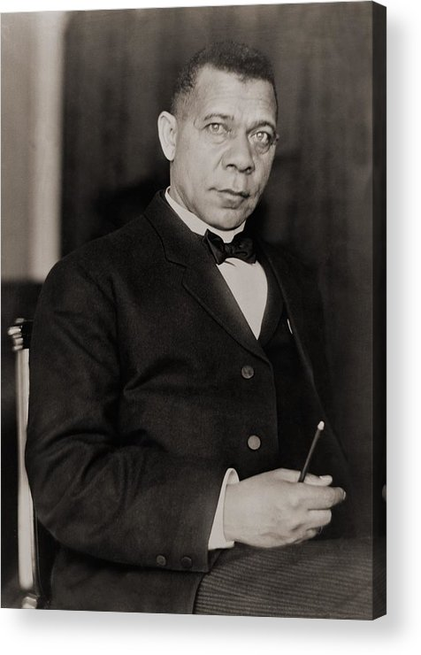 History Acrylic Print featuring the photograph Booker T. Washington 1856-1915, Became by Everett