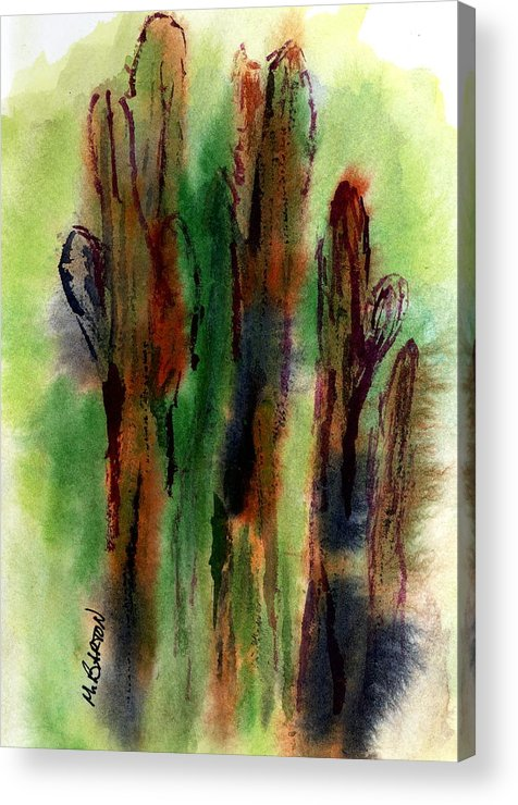 Saguaro Acrylic Print featuring the painting Cactus Coolers by Marilyn Barton