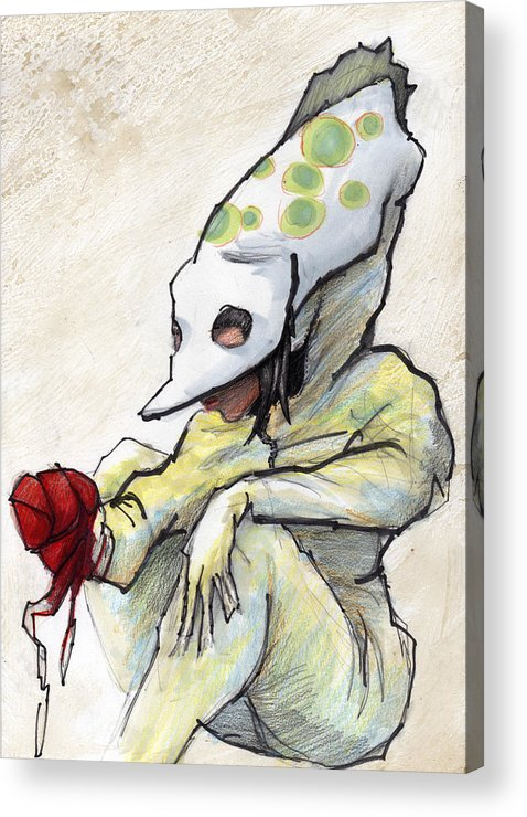 Grrl Acrylic Print featuring the painting Carnival Hat by Ethan Harris