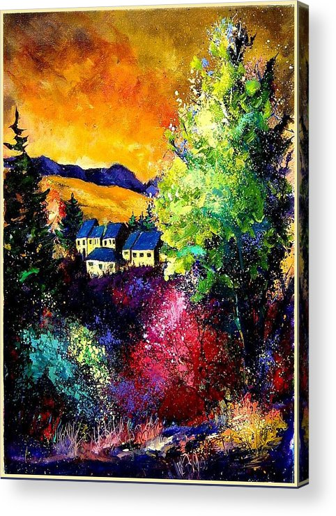 Landscape Acrylic Print featuring the painting Charnoy by Pol Ledent