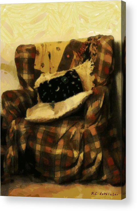 Armchair Acrylic Print featuring the painting Checks And Balances by RC DeWinter