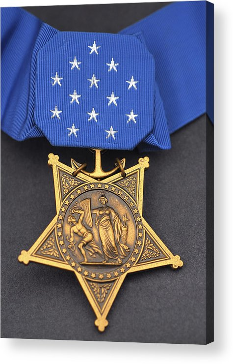 Medal Of Honor Acrylic Print featuring the photograph Close-up Of The Medal Of Honor Award by Stocktrek Images