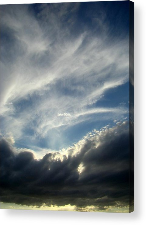 Clouds Acrylic Print featuring the photograph Clouds One by Ana Villaronga