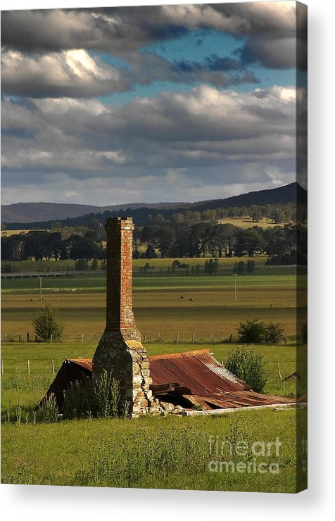 Landscape Acrylic Print featuring the photograph Collapsed by Stan Boulton
