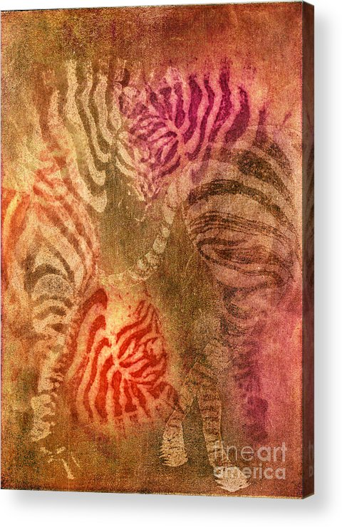 Animal Acrylic Print featuring the photograph Colrfull Donkies by Iglika Milcheva-Godfrey