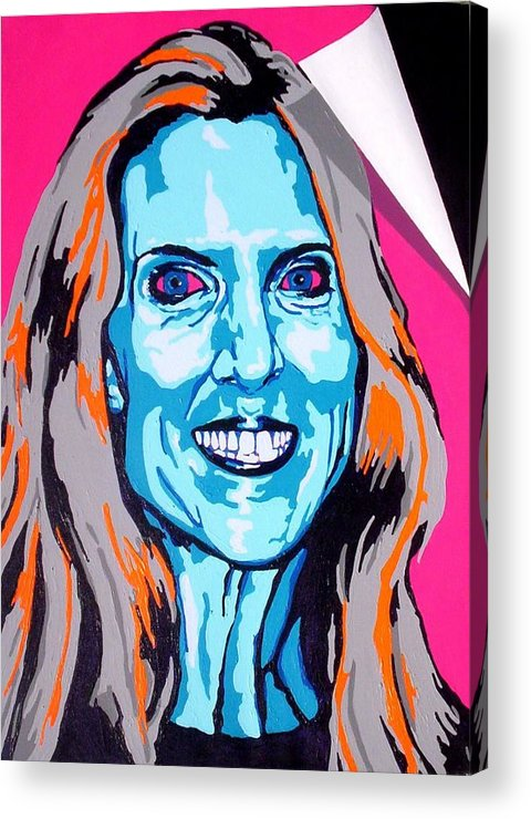 Politics Acrylic Print featuring the painting Coulter by Dennis McCann