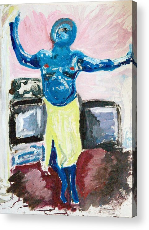 Cyclops Acrylic Print featuring the painting Cyclops At Home by John Toxey