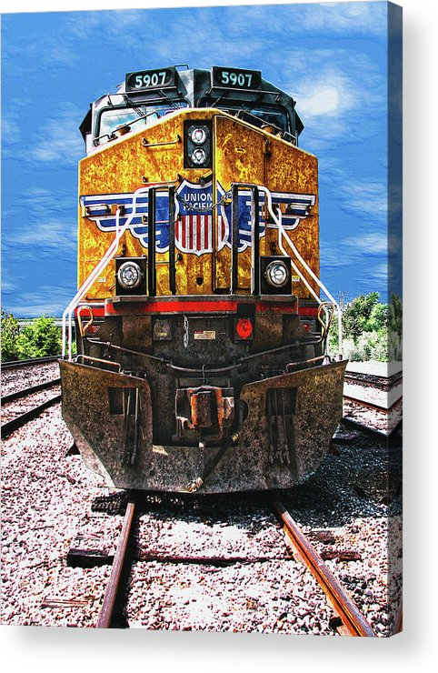 Train Acrylic Print featuring the photograph Day Train by Wendy J St Christopher