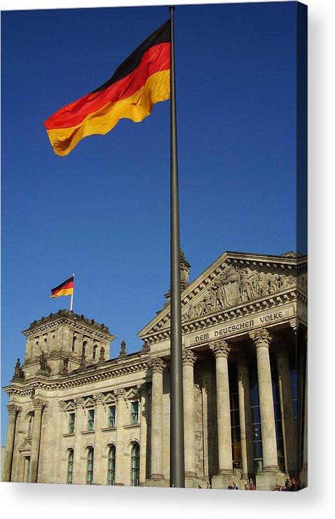 Deutscher Bundestag Acrylic Print featuring the photograph Deutscher Bundestag by Flavia Westerwelle