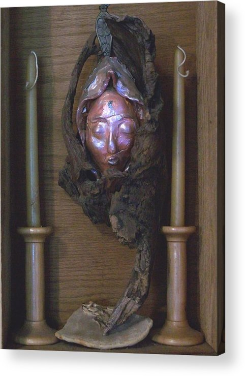 Celtic Acrylic Print featuring the photograph Druantia 1 by Carolyn Cable