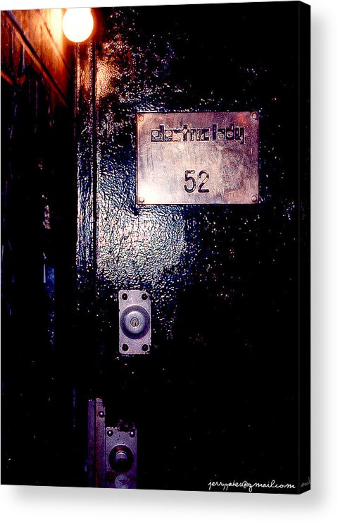 Door Acrylic Print featuring the photograph Electric Lady 52 by Gerard Yates