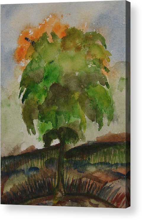 Tree Acrylic Print featuring the painting Esoteric Tree by Aim to be Aimless