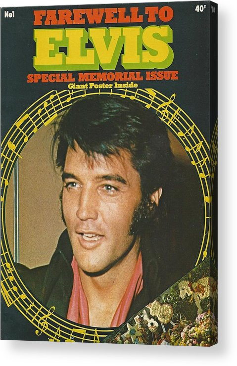 Farewell To Elvis Acrylic Print featuring the photograph Farewell To Elvis by Pd