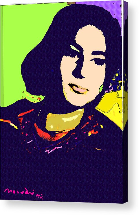 My Sister Acrylic Print featuring the mixed media Fatima by Noredin Morgan