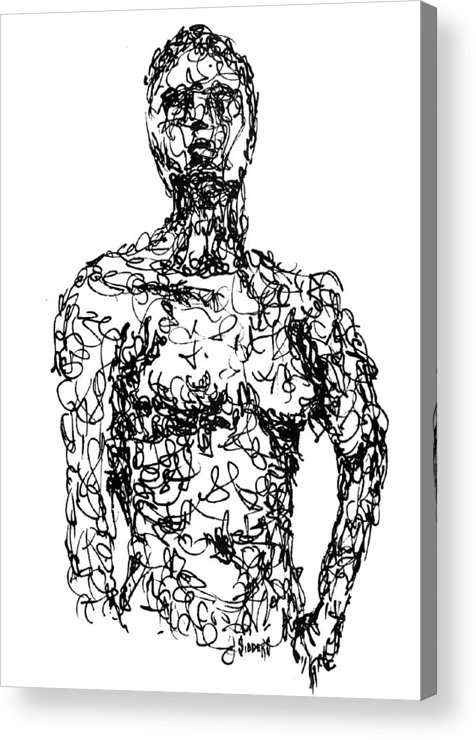 Figure Acrylic Print featuring the drawing Figure by Sam Sidders