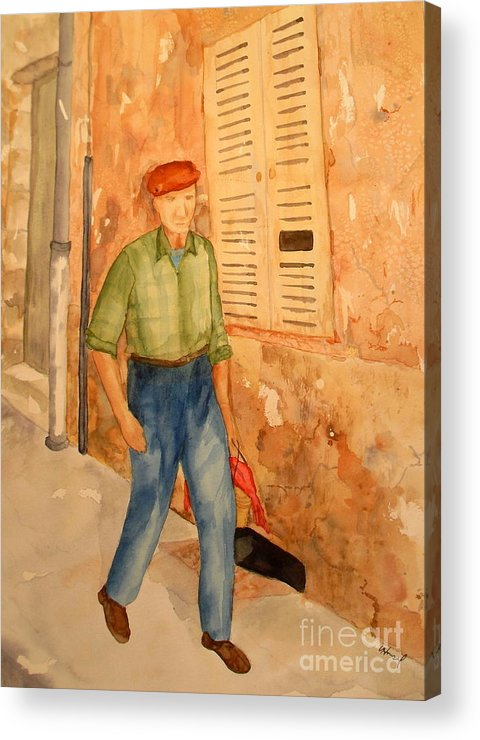 Frenchman Acrylic Print featuring the painting Fresh Bread In The Morning by Vicki Housel