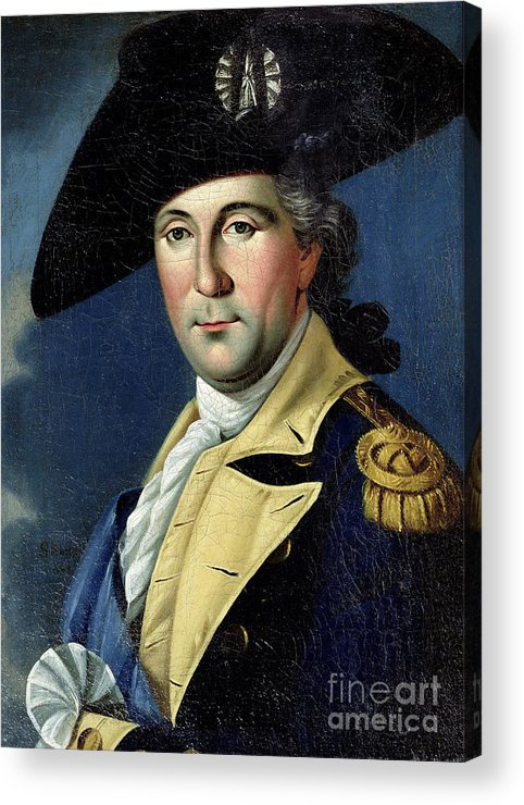 George Acrylic Print featuring the painting George Washington by Samuel King