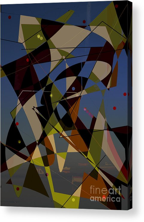 Abstract Acrylic Print featuring the digital art Go With The Flow Iv by Andy Mercer