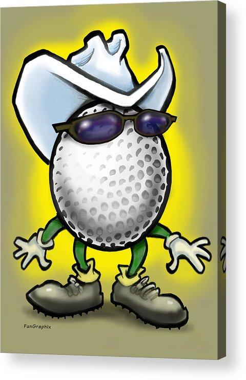 Golf Acrylic Print featuring the digital art Golf Cowboy by Kevin Middleton