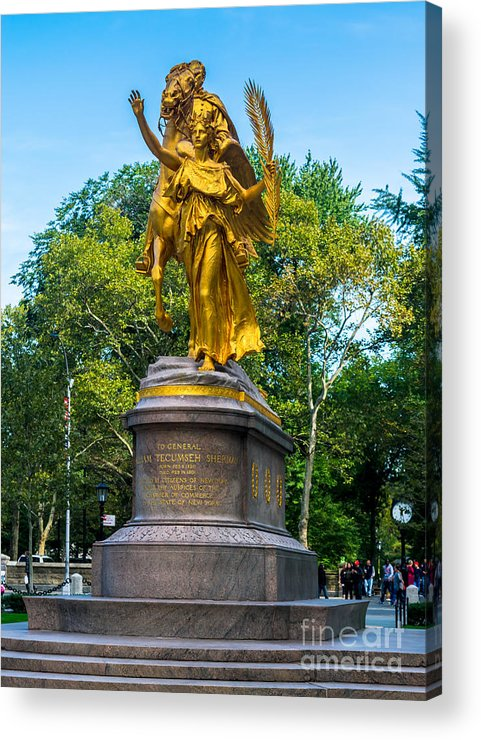 59th Acrylic Print featuring the photograph Grand Army Plaza 1 by Anakin13