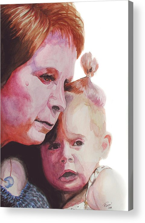 Baby Acrylic Print featuring the painting Grandchild by Ferrel Cordle