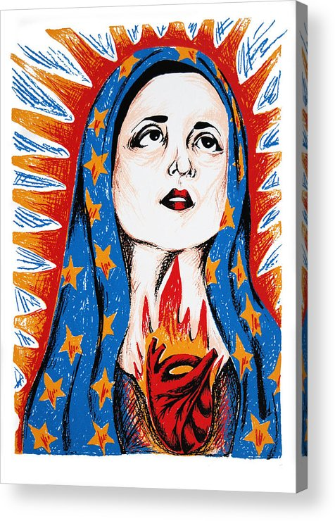 Deann Acton Acrylic Print featuring the print Guadalupe by DeAnn Acton