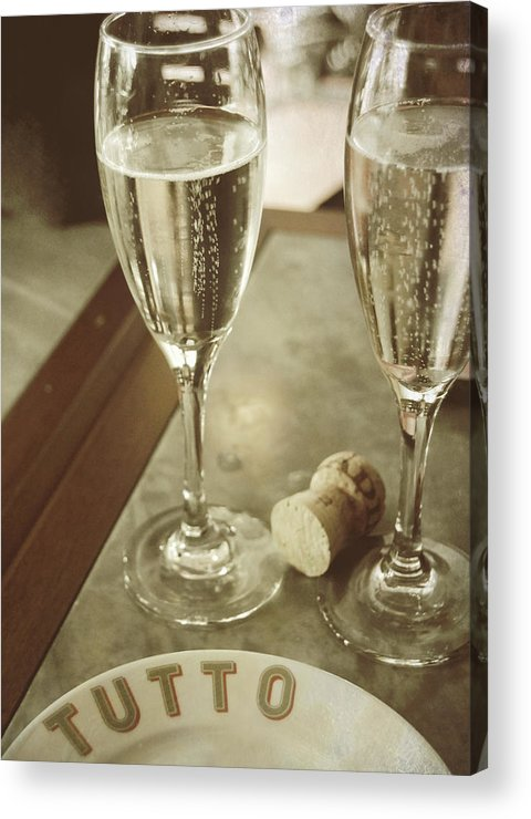 Champagne Acrylic Print featuring the photograph Have No Regrets by JAMART Photography