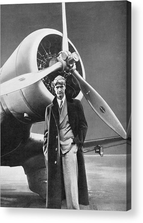 Howard Hughes Acrylic Print featuring the photograph Howard Hughes, Us Aviation Pioneer by Science, Industry & Business Librarynew York Public Library