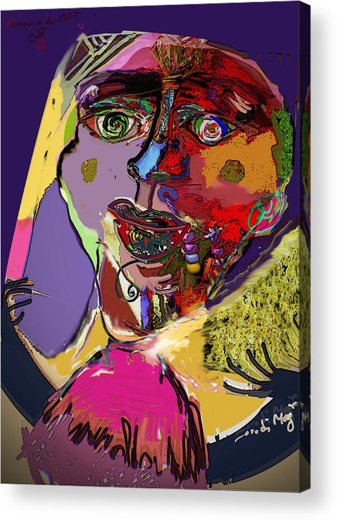 Mask Acrylic Print featuring the painting I'm Not What You Think I'm by Noredin Morgan