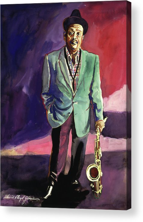 Jazz Acrylic Print featuring the painting Jazzman Ben Webster by David Lloyd Glover
