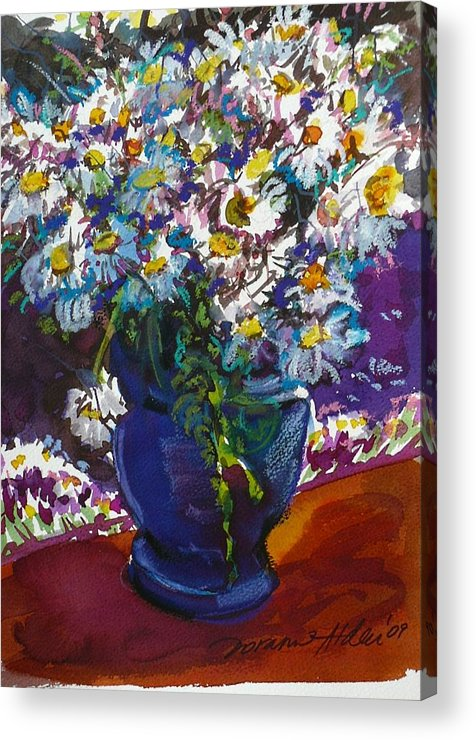 Daisies Acrylic Print featuring the painting June Daisies by Doranne Alden