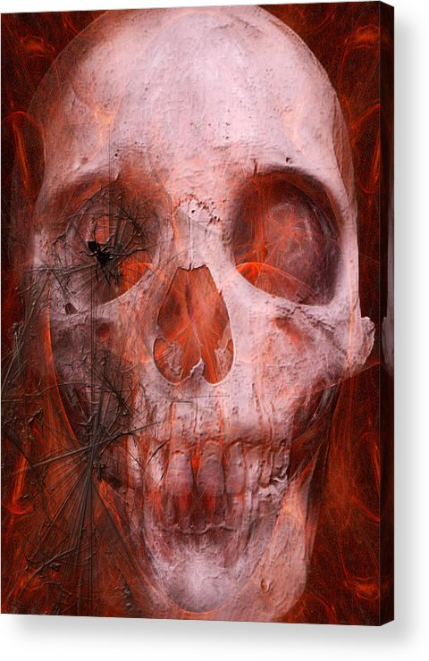 Soul Acrylic Print featuring the digital art Just Grining by Jean Gugliuzza