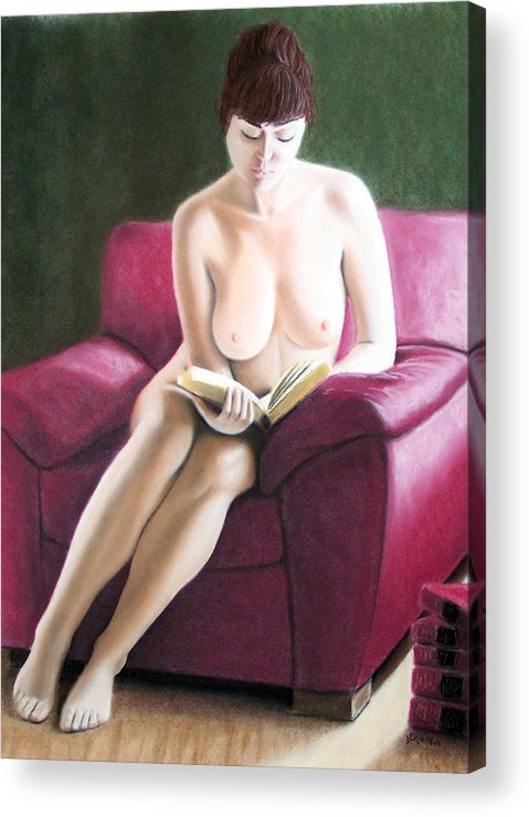 Joe Ogle Acrylic Print featuring the painting Kathryns Pasttime by Joseph Ogle