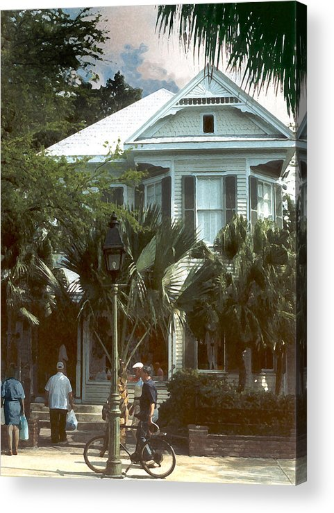 Historic Acrylic Print featuring the photograph Keywest by Steve Karol
