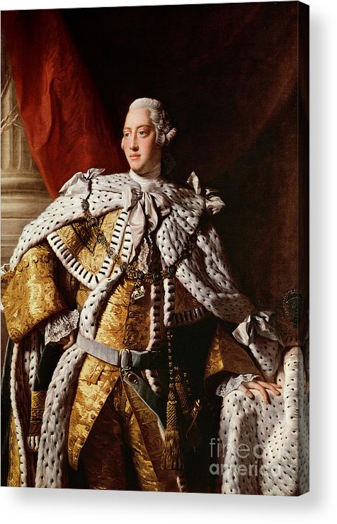 King Acrylic Print featuring the painting King George IIi by Allan Ramsay