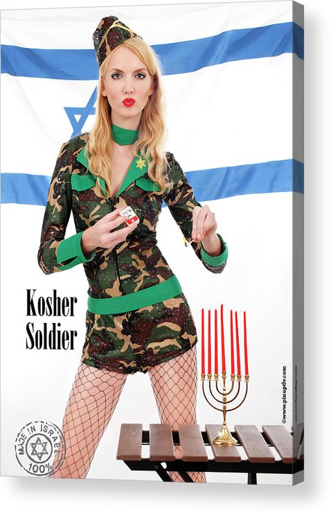 Diaspora Acrylic Print featuring the photograph Kosher Soldier by Pin Up TLV