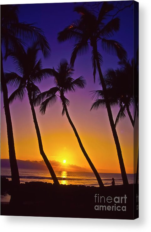 Sunset Acrylic Print featuring the photograph Launiupoko Sunset by Jim Cazel