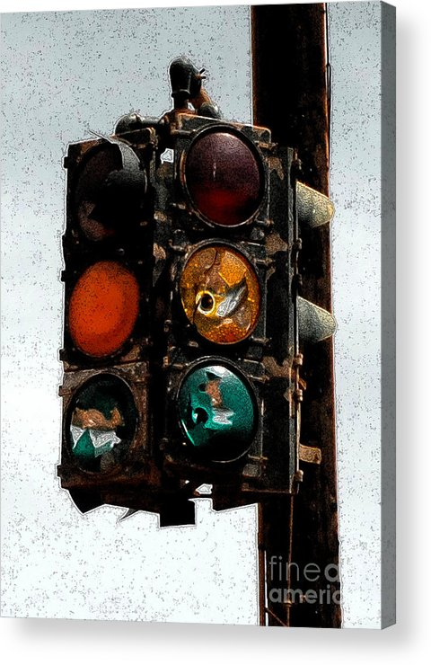 Stop Lights Acrylic Print featuring the photograph Lights Stopped by Tom Tripp