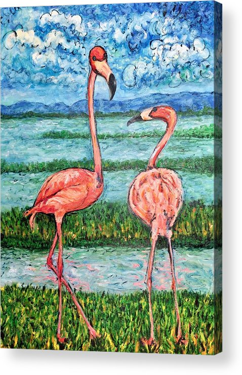 Lanscape Acrylic Print featuring the painting Love Talk by Ericka Herazo