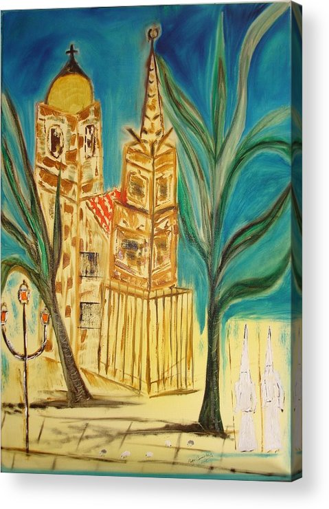 Spain Acrylic Print featuring the painting Malaga by Roger Cummiskey