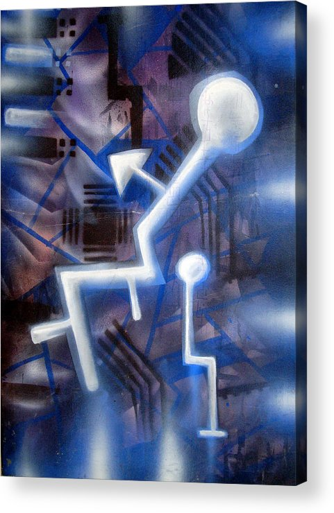 Man Acrylic Print featuring the painting man by Leigh Odom