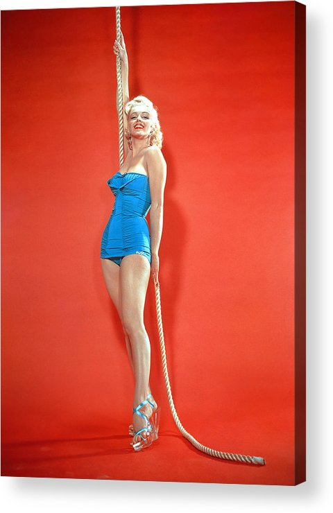 1950s Fashion Acrylic Print featuring the photograph Marilyn Monroe, C. 1950s by Everett