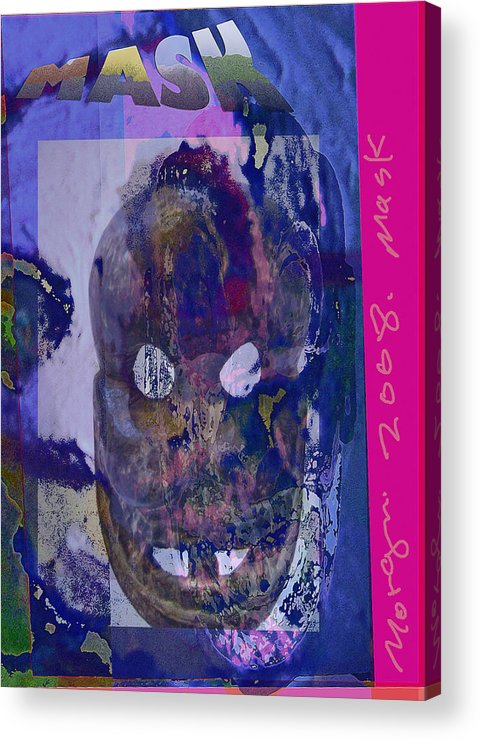 Mask Acrylic Print featuring the painting Mask2 by Noredin Morgan