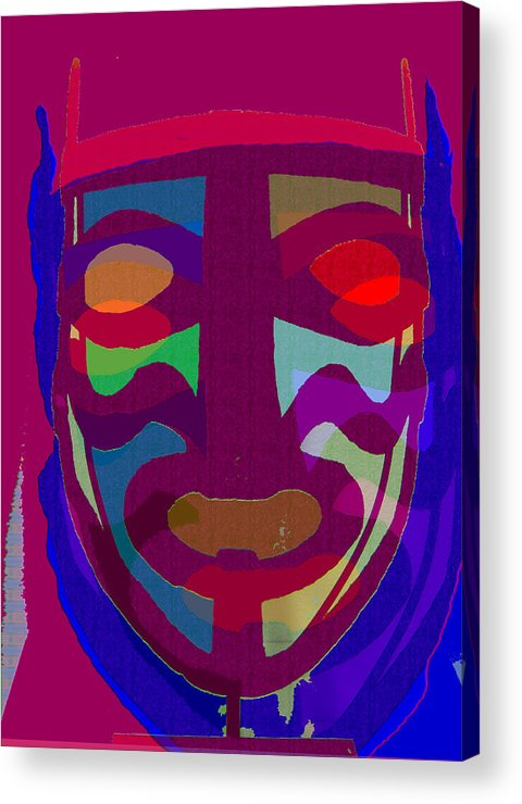 Mask Acrylic Print featuring the painting Mask8 by Noredin Morgan