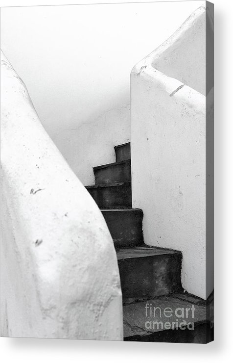 Minimal Acrylic Print featuring the photograph Minimal Staircase by PrintsProject