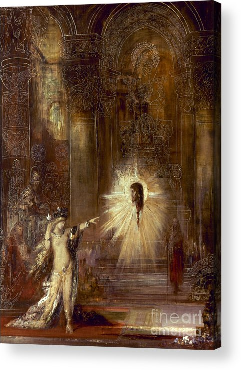 1876 Acrylic Print featuring the painting Moreau: Apparition, 1876 by Granger