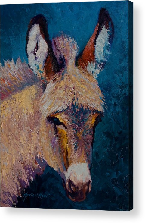 Burro Acrylic Print featuring the painting Mystic by Marion Rose
