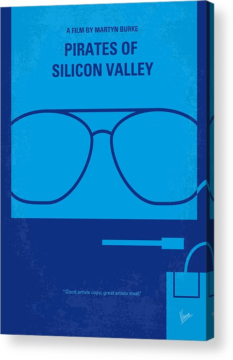 Pirates Acrylic Print featuring the digital art No064 My Pirates Of Silicon Valley Minimal Movie Poster by Chungkong Art