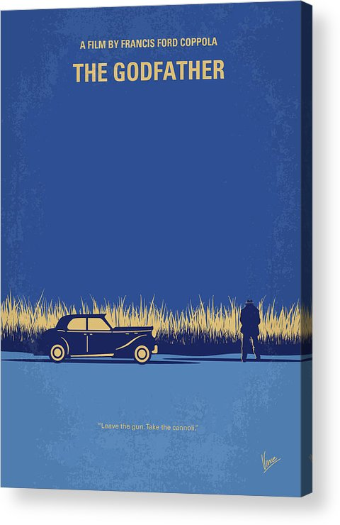 The Acrylic Print featuring the digital art No686-1 My Godfather I Minimal Movie Poster by Chungkong Art